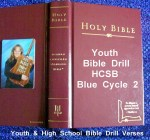 Youth Bible Drill HCSB Blue